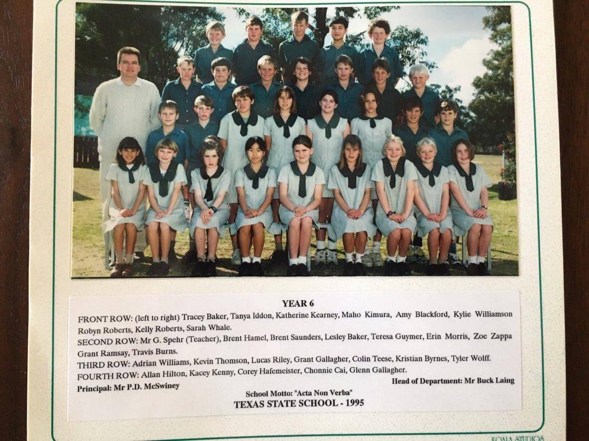 幼少期を過ごしたオーストラリアのクラス写真