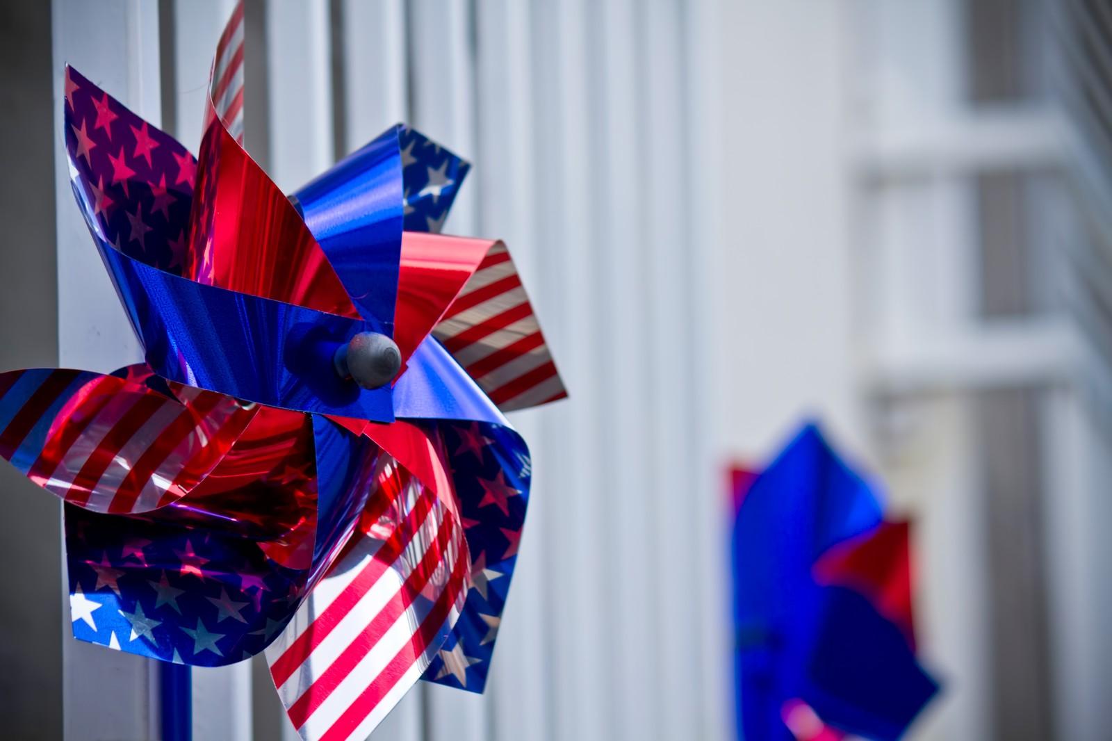 アメリカの国旗の柄の飾り